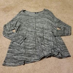Cynthia Rowley Marled Gray Long Sleeve Top